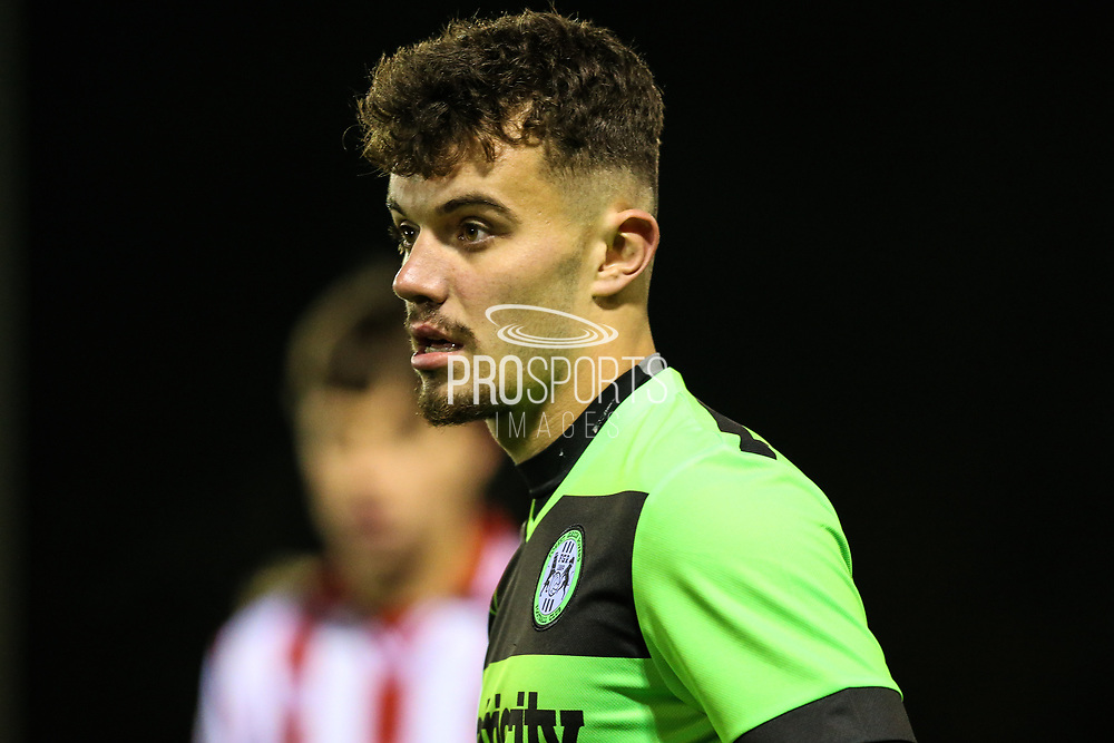 Forest Green Rovers Taylor Marsh(17) during the FA Youth Cup match between U18 Forest Green Rovers and U18 Cheltenham Town at the New Lawn, Forest Green, United Kingdom on 29 October 2018.