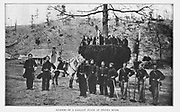 General William P. Carlin and staff from the book ' The Civil war through the camera ' hundreds of vivid photographs actually taken in Civil war times, sixteen reproductions in color of famous war paintings. The new text history by Henry W. Elson. A. complete illustrated history of the Civil war