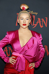 Christina Aguilera at the World premiere of Disney's 'Mulan' held at the Dolby Theatre in Hollywood, USA on March 9, 2020.