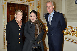LONDON, ENGLAND 28 NOVEMBER 2016: Left to right, Lucy Cameron, Maiko, Dowager Viscountess Rothermere and David Mees at a reception to celebrate the publication of The Sovereign Artist by Christopher Le Brun and Wolf Burchard held at the Royal Academy of Art, Piccadilly, London, England. 28 November 2016.