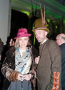 CAROLINE BUTLER; MARK WESLEY; EARL OF BEDLAM, Opening of Postmodernism.. V and A Museum. London. 21 September 2011. <br />  , -DO NOT ARCHIVE-© Copyright Photograph by Dafydd Jones. 248 Clapham Rd. London SW9 0PZ. Tel 0207 820 0771. www.dafjones.com.