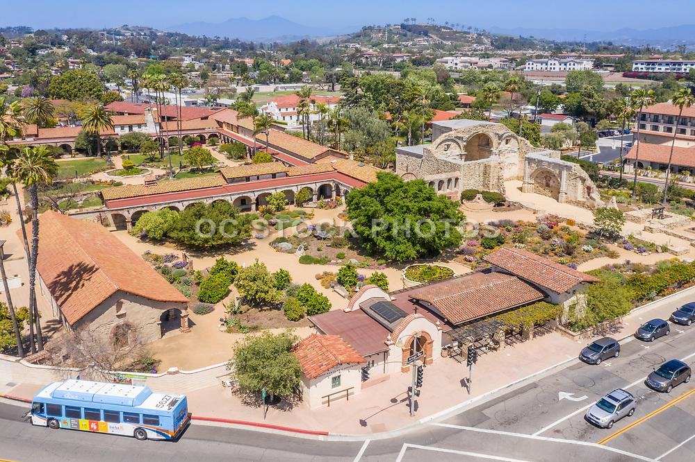 Aerial Photo of The Mission Basilica San Juan Capistrano on the Corner of Camino Capistrano and Ortega Highway