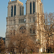 Facade of Notre Dame Cathedral, Paris