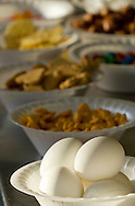 Augusta, New Jersey - Breakfast food for runners during the 3 Days at the Fair races at Sussex County Fairgrounds on May 11, 2012.