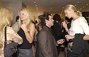 Gemma Kidd, Max Cottschalk and Jodie Kidd. Jimmy Choo concession opening. Harvey Nicholls. London. 10 September 2002 © Copyright Photograph by Dafydd Jones 66 Stockwell Park Rd. London SW9 0DA Tel 020 7733 0108 www.dafjones.com