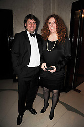 CHARLIE BROOKS and his wife REBEKAH WADE at the Cartier Racing Awards 2009 held at Claridge's, Brook Street, London on 17th November 2009.