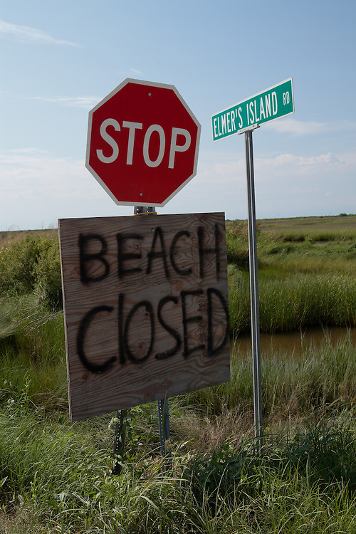 The beach at Elmer's Island remains closed through Labor Day weekend.