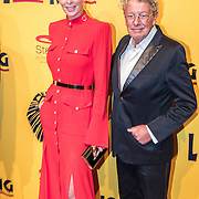 NLD/Scheveningen/20161030 - Premiere musical The Lion King, Jan en Monique des Bouvrie