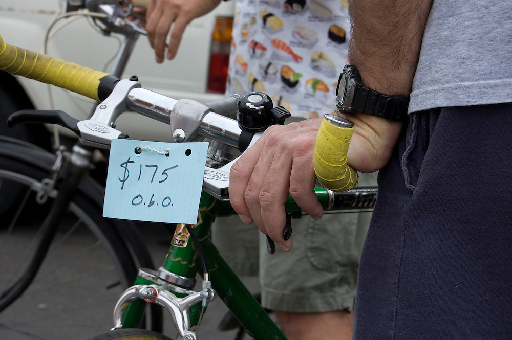 Checking out vintage bikes at Tucson's spring 2010 Bicycle Swap Meet. Bike-tography by Martha Retallick.