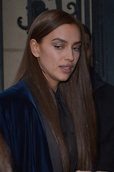 Irina Shayk arriving at the Jean Paul Gaultier Haute Couture Spring/Summer 2019-2020 show as part of Paris Fashion Week on January 23, 2019 in Paris, France. Photo by Julien Reynaud/APS-Medias/ABACAPRESS.COM