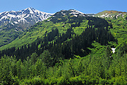 Coast Mountains on the Stewart-Cassiar Highway<br /> <br /> Bell ll<br /> British Columbia<br /> Canada