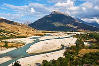 Albanie, province de Gjirokaster, rivière Drinos // Albania, Gjirokaster province, Drinos river