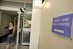 24 hour walk in centre; Crawley Hospital UK