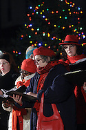 Pine Bush, NY - Members of the Middletown Chorale sing at the Pine Bush Festival of Lights holiday celebration on the evening of Dec. 1, 2008.