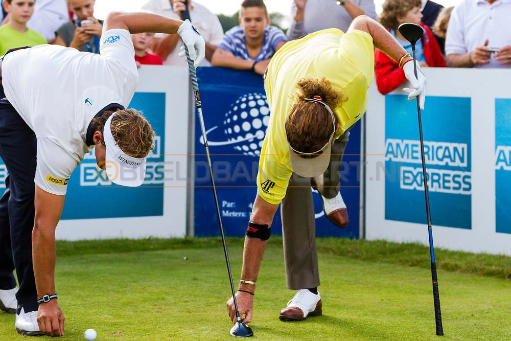 08-09-2014 Foto's van The Re-Match. Een vriendelijke battle over zes holes tussen Joost Luiten en Miguel Angel Jiménez, gespeeld op de Kennemer Golf & Country Club in Zandvoort, Nederland.
