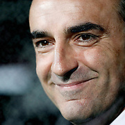 Besiktas's coach Carlos CARVALHAL during their UEFA Europa League Group Stage Group E soccer match Besiktas between Dynamo Kyiv at Inonu stadium in Istanbul Turkey on Thursday November 03, 2011. Photo by TURKPIX
