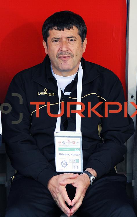 Altayspor's coach Guvenc KURTAR during their Turkish soccer Play Off final match Altayspor between Konyaspor at Ataturk Olympic Stadium in Istanbul Turkey on Sunday, 23 May 2010. Photo by TURKPIX