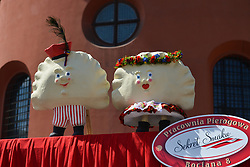 August 15, 2017 - Krakow, Poland - Thousands of tourists, locals and 'Pierogi' lovers attended the 15th Annual Pierogi (Dumplings) Festival in Krakow where local restaurateurs competed from 11th to 15th of August for the title of 'The Best Pierogi 2017'. .On Tuesday, August 15, 2017, in Krakow, Poland. (Credit Image: © Artur Widak/NurPhoto via ZUMA Press)