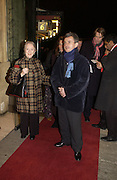Thelma Barlow and Nicholas Roberts. The premiere for the new Cirque Du Soleil production, Alegria, at the Royal Albert Hall and party afterwards in the Kensington Roofgarden. London.  5 January 2006. ONE TIME USE ONLY - DO NOT ARCHIVE  © Copyright Photograph by Dafydd Jones 66 Stockwell Park Rd. London SW9 0DA Tel 020 7733 0108 www.dafjones.com