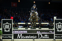 Jessica Mendoza on Wan Architect competes during Massimo Dutti Trophy  at the Longines Masters of Hong Kong on 21 February 2016 at the Asia World Expo in Hong Kong, China. Photo by Juan Manuel Serrano / Power Sport Images