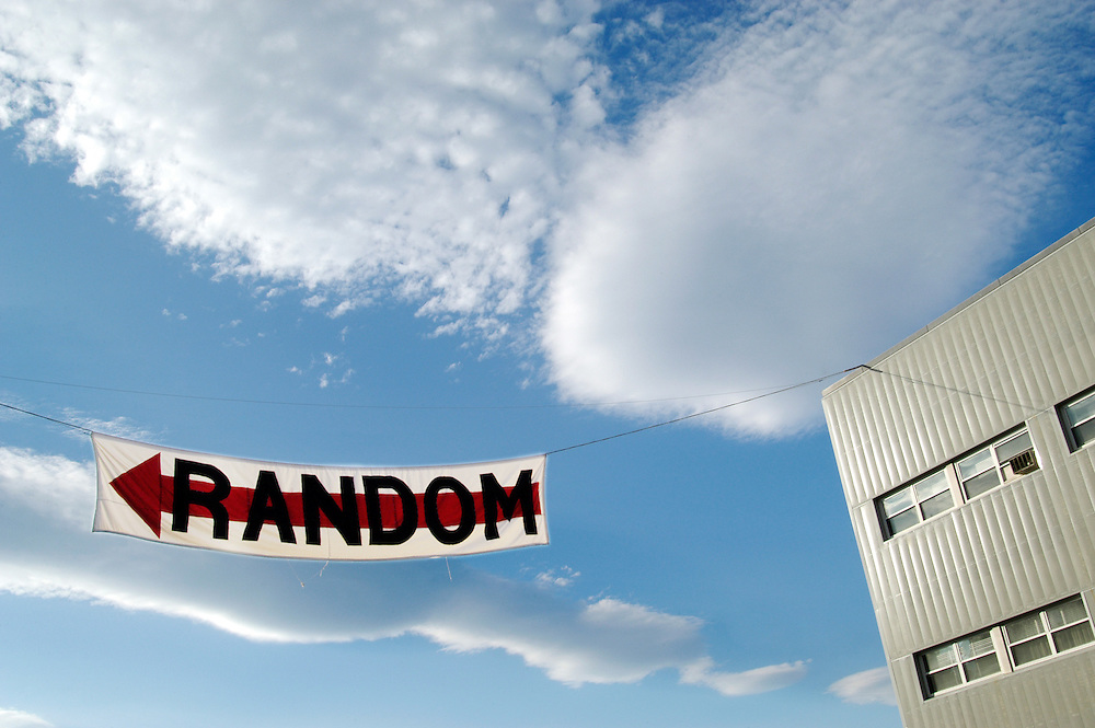 MIT's Random Hall advertises its location next to the MIT Museum.