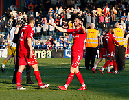 Johnnie Jackson of Charlton Athletic applauds the Charlton fans at full time during the EFL Sky Bet League 1 match between Rochdale and Charlton Athletic at Spotland, Rochdale, England on 5 May 2018. Picture by Paul Thompson.