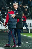 Football - 2017 / 2018 Premier League - Swansea City vs. Crystal Palace<br /> <br /> Crystal PalaceRoy Hodgson manager shakes hands with Swansea City acting manager Leon Britton, at the Liberty Stadium.<br /> <br /> COLORSPORT/WINSTON BYNORTH