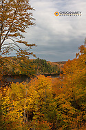 Autumn hues along Chapel Lake at Pictured Rocks National Lakeshore, Michigan, USA