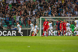 Players of Slovenia and England during the EURO 2016 Qualifier Group E match between Slovenia and England at SRC Stozice on June 14, 2015 in Ljubljana, Slovenia. Photo by Grega Valancic