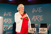 Brexit Party south west MEP Ann Widdecombe addresses delegates at the final event of the Brexit Party Tour in London, United Kingdom on 27th September 2019. In the event of a general election being called, the party has already selected prospective parliamentary candidates in  constituencies across the UK .