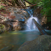Redwood Gulch Waterfall, HDR Exercise. Image(s) taken with a Nikon D3x and 24 mm f/3.5 PC-E lens Singh-Ray filters (ISO 100, 24 mm, f/16, 2.5 to 30 sec). Raw image processed with Capture One Pro, Photoshop CS5 HDR Pro - Photorealistic.