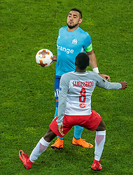 03.05.2018, Red Bull Arena, Salzburg, AUT, UEFA EL, FC Salzburg vs Olympique Marseille, Halbfinale, Rueckspiel, im Bild Dimitri Payet (Olympique Marseille), Diadie Samassekou (FC Salzburg) // during the UEFA Europa League Semifinal, 2nd Leg Match between FC Salzburg and Olympique Marseille at the Red Bull Arena in Salzburg, Austria on 2018/05/03. EXPA Pictures © 2018, PhotoCredit: EXPA/ JFK