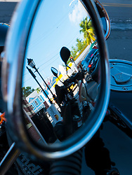 Close up of a Motorcycle Side View Mirror