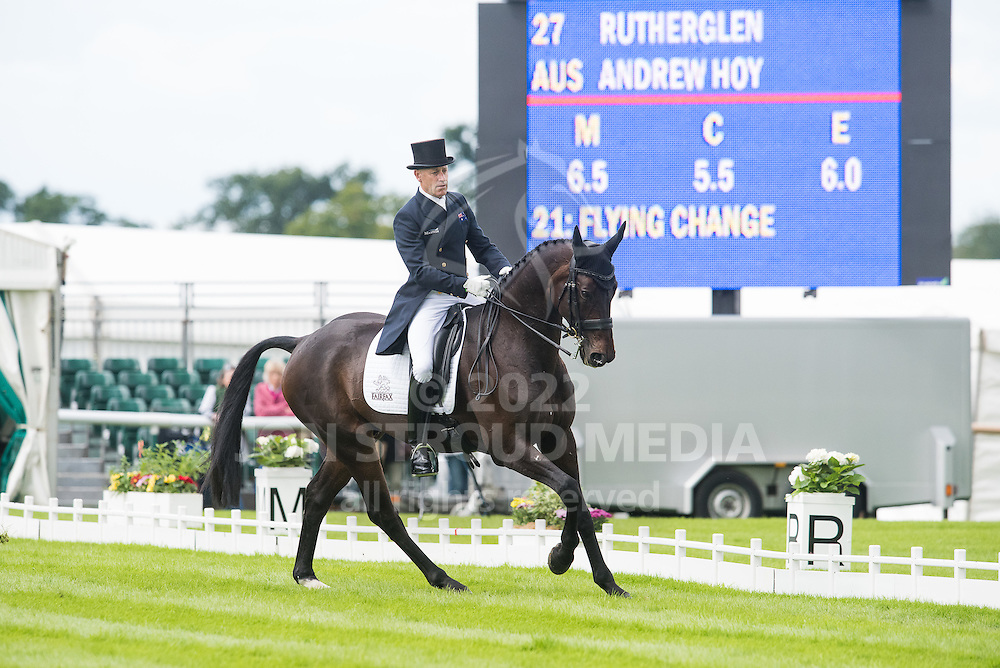 Andrew Hoy (AUS) & Rutherglen - Dressage - Land Rover Burghley Horse Trials - Stamford, Lincolnshire, United Kingdom - 03 September 2015