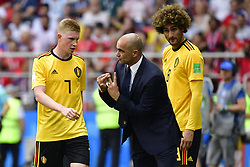 June 23, 2018 - Moscou, Russie - MOSCOW, RUSSIA - JUNE 23 : Roberto Martinez head coach of Belgian Team talks to Kevin De Bruyne forward of Belgium during the FIFA 2018 World Cup Russia group G phase match between Belgium and Tunisia at the Spartak Stadium on June 23, 2018 in Moscow, Russia, 23/06/2018 (Credit Image: © Panoramic via ZUMA Press)