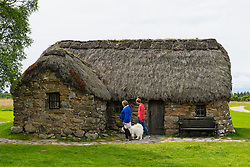 Old Leanach Cottage at National Trust for Scotland  Culloden Moor battlefield in Highland, Scotland.