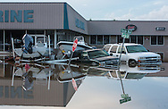 Flooding in Denham Springs Louisiana where over two feet of rain fell in 48 hours caused historic flooding.