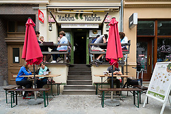 Restaurant on Kastanienallee in bohemian Prenzlauer Berg district of Berlin Germany