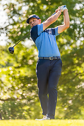 May 2, 2019 - Charlotte, NC, U.S. - CHARLOTTE, NC - MAY 02: Sergio Garcia tees off on the 16th hole during the first round of the Wells Fargo Championship at Quail Hollow on May 2, 2019 in Charlotte, NC. (Photo by William Howard/Icon Sportswire) (Credit Image: © William Howard/Icon SMI via ZUMA Press)