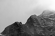 Closeup of Colonial Peak in North Cascades National Park, Washington State, USA