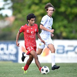BRISBANE, AUSTRALIA - MARCH 7:  during the NPL Queensland u23's Round 1 match between Olympic FC and Gold Coast United on March 7, 2021 in Brisbane, Australia. (Photo by Patrick Kearney)