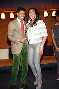 l to r: Fonzworth Bently and Vivica A. Fox at The Men of Style Awards presented by Gillette Fusion and Rolling Out Urbanstyle Weekly held at the 40/40 Club on Novemeber 2, 2009 in New York City
