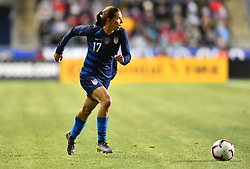 February 27, 2019 - Chester, PA, U.S. - CHESTER, PA - FEBRUARY 27: US Forward Tobin Heath (17) carries the ball in the first half during the She Believes Cup game between Japan and the United States on February 27, 2019 at Talen Energy Stadium in Chester, PA. (Photo by Kyle Ross/Icon Sportswire) (Credit Image: © Kyle Ross/Icon SMI via ZUMA Press)