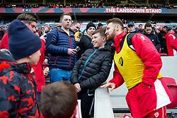 Matty Taylor of Bristol City poses with fans - Rogan Thomson/JMP - 04/02/2017 - FOOTBALL - Ashton Gate Stadium - Bristol, England - Bristol City v Rotherham United - Sky Bet Championship.
