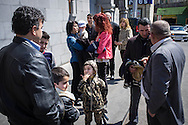 A Syrian-Armenian family from Aleppo attending the Easter Sunday church service at St. Gregory Cathederal, Yerevan, Armenia.