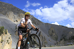 Mikel Landa (ESP) Team Sky climbs through the Caisse Deserte on Col d'Izoard during Stage 18 of the 104th edition of the Tour de France 2017, running 179.5km from Briancon to the summit of Col d'Izoard, France. 20th July 2017.<br /> Picture: Eoin Clarke | Cyclefile<br /> <br /> All photos usage must carry mandatory copyright credit (© Cyclefile | Eoin Clarke)