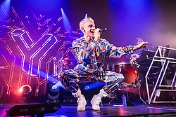 Frontman Olly Alexander. Years & Years on stage at the O2 Academy Glasgow, Glasgow, Scotland.