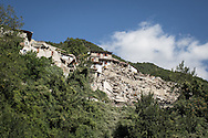 Peschiera del Tronto where many houses collapsed after the sisma