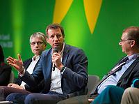 DEU, Deutschland, Germany, Berlin, 24.11.2018: Sven Giegold (MEP), Yannick Jadot (MEP), Philippe Lamberts, Co-President of the Greens/EFA group in the European Parliament. Council of the European Green Party (EGP council) at Deutsche Telekom Representative Office.