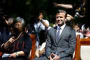 BEIJING, CHINA - JUNE 17: (CHINA OUT) <br /> <br /> David Beckham visits Soong Ching Ling's Former Residence to donate the F-Type car to the China Soong Ching Ling Foundation on June 17, 2013 in Beijing, China. <br /> ©Exclusivepix